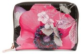 Ted Baker Women's Mini Lilibe Neon Poppy Zip Wallet - Black