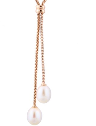 Freshwater Cultured Pearl Double Drop Necklace