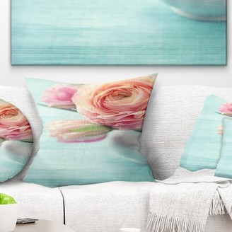 """East Urban Home Floral Beautiful Flowers Pillow East Urban Home Size: 16"""" x 16"""", Product Type: Throw Pillow"""