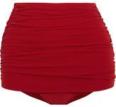 Norma Kamali Bill Ruched Bikini Briefs - Red