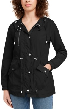 Maralyn & Me Juniors' Hooded Water-Resistant Anorak Jacket