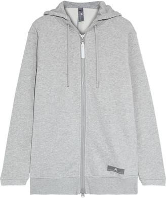 adidas by Stella McCartney Ess Melange Cotton-blend Fleece Hoodie