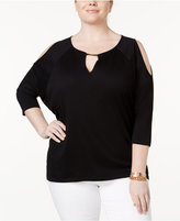 MICHAEL Michael Kors Size Cold-Shoulder Top