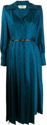 Fendi FF Karligraphy pleated dress