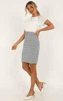 Showpo Planning Ahead Skirt in grey check - 16 (XXL) Mini Skirts