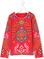 Oilily printed long-sleeved T-shirt