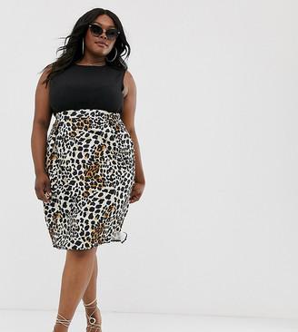 AX Paris Plus Plus 2-in-1 leopard print dress