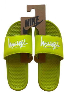 Stussy Yellow Rubber Sandals