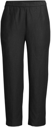 Eileen Fisher Easy Cropped Pull-On Pants
