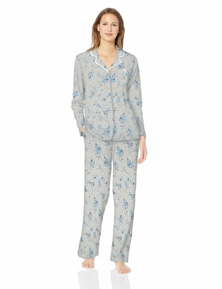 Aria Women's Printed Notch Collar Pajama Set