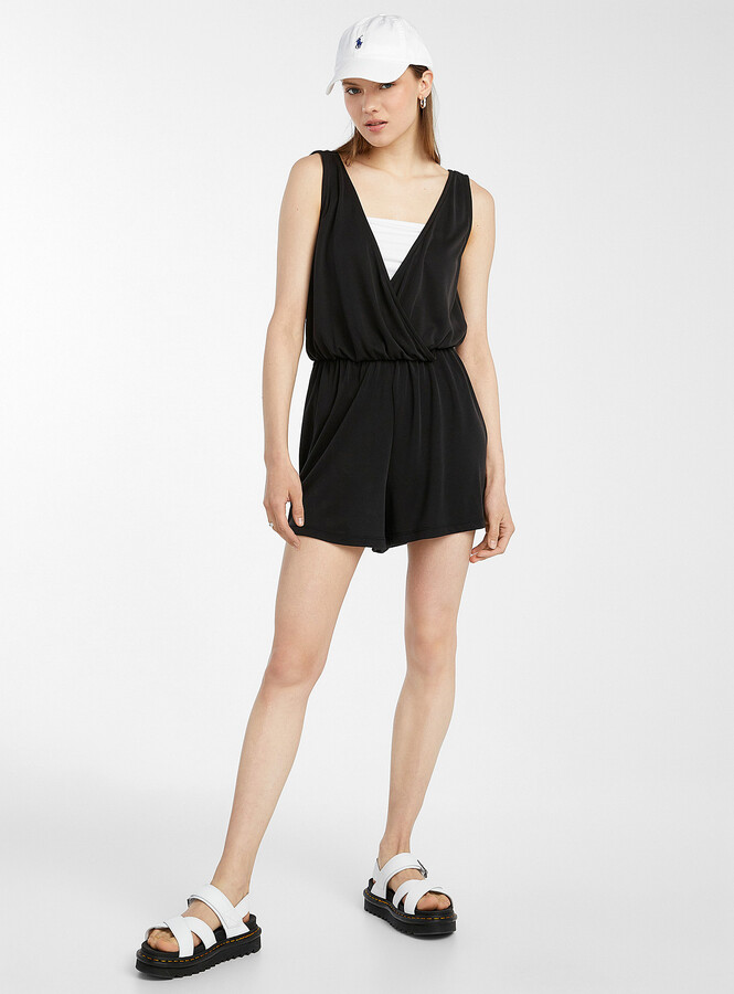 Thumbnail for your product : Only Draped V-neck romper