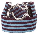 Marc Jacobs Striped Elasticized Waist Belt