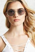 Forever 21 Brow Bar Round Sunglasses