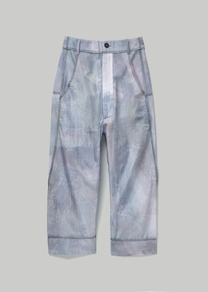 Beira Women's Waistband Pants In Grey in Handpainted Grey Blue Size 0