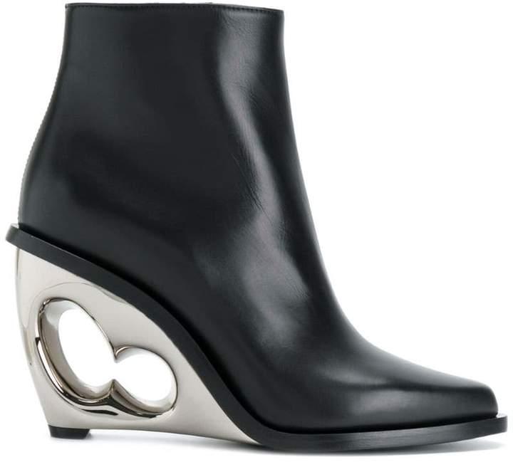 Alexander McQueen sculpted wedge boots