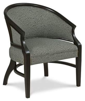 Danbury Fairfield Chair Barrel Chair Fairfield Chair Body Fabric: 8789 Bark, Frame Color: Charcoal, Nailhead Detail: Black Nickel