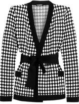 Balmain Intarsia Knitted Jacket - Black