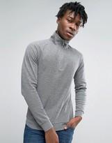 Farah Sweatshirt With 1/4 Zip In Regular Fit Gray