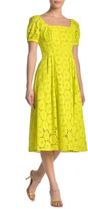 Diane von Furstenberg Helena Eyelet Lace Midi Dress