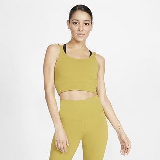 Nike Women's Infinalon Metallic Tank Yoga Luxe