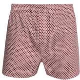 Sunspel - Shibori Floral Print Cotton Boxer Shorts - Mens - Red