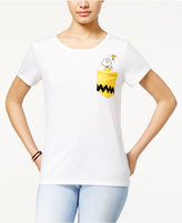Peanuts Juniors' Charlie Brown Pocket Graphic T-Shirt
