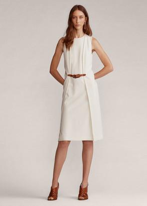 Ralph Lauren Gabriela Wool Crepe Day Dress