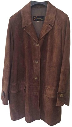 Arfango Brown Suede Leather Jacket for Women