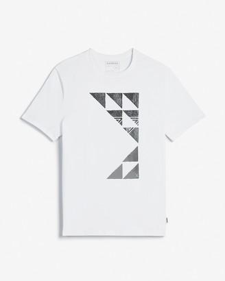 Express White Geometric Graphic T-Shirt