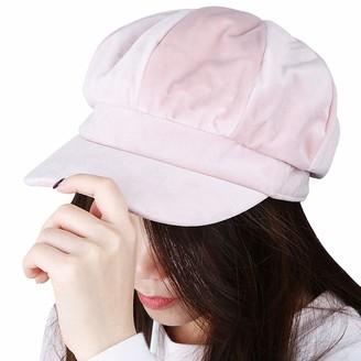 KYEYGWO Beret Cap for Women Plain 8 Panel Winter Warm Cabbie Visor Newsboy Hat Gatsby Ivy Caps