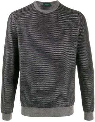 Zanone Two-Tone Knitted Jumper