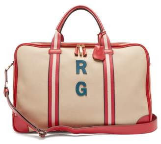 Anya Hindmarch Walton Customisable Canvas Travel Bag - Womens - Red Multi