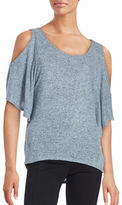 Design Lab Lord & Taylor Knit Cold-Shoulder Top