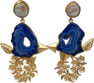 Pink Piglet Collection Royal Bleu - Statement Earrings