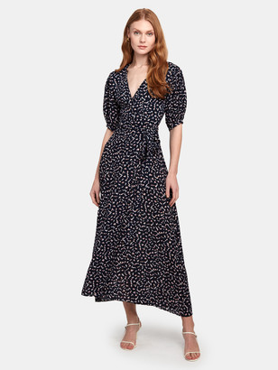 MISA Andrea Puff Sleeve Wrap Dress
