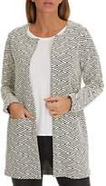 Betty Barclay Textured Woven Jacket, Dark Blue/Grey