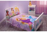 Disney Crown Crafts Princess 4 Piece Toddler Bed Set - Rapunzel, Aurora, Belle, Cinderella