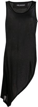 Neil Barrett asymmetric tank top dress