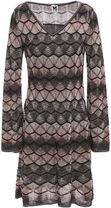 M Missoni Metallic Crochet-knit Dress