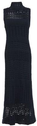 Theory Cotton-crochet Turtleneck Midi Dress