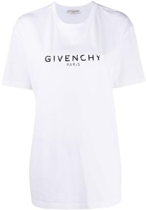 Givenchy antique-effect logo oversize T-shirt