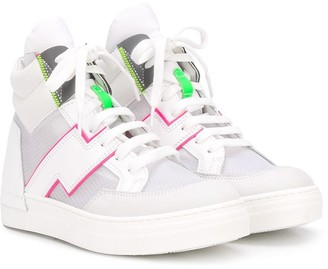 Cinzia Araia Kids Contrast Trim Sneakers