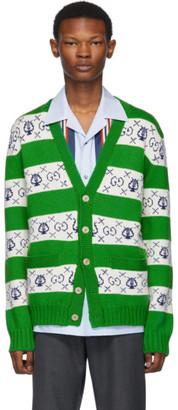Gucci Green Lyre Stripe Cardigan