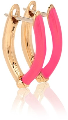 Melissa Kaye Cristina 18kt gold hoop earrings