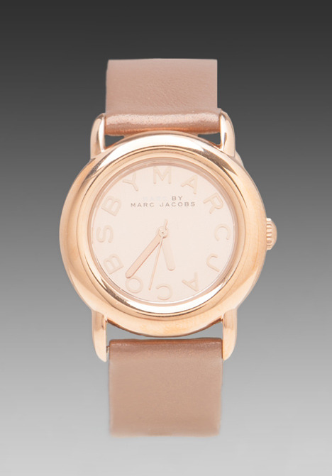 Marc by Marc Jacobs Big Idea Mirror Watch in Rose and Tan
