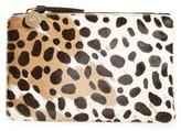Clare Vivier 'Core' Leopard Print Genuine Calf Hair Pouch - Brown