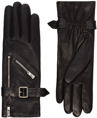 Agnelle Barbra buckled leather gloves