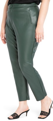 ELOQUII Slim Fit Faux Leather Pants