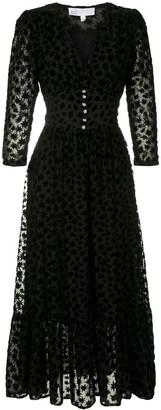 Nk Jacquard-Motif Midi Dress