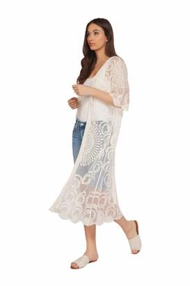 Dex Women's Embroidered Mesh Kimono